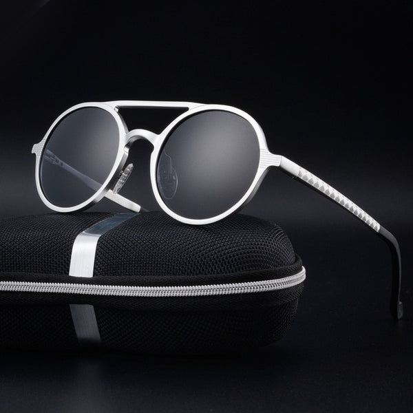 RBROVO HD 100% Polarized Aluminum Magnesium Sunglasses Men Brand Design UV400 Classic Retro Metal Sun Glasses Outdoor Glasses