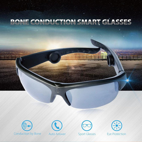 2018 New  Bone Conduction Headphones Bone Conduction Sunglasses Bluetooth Wireless Headphones Smart Sunglasses Built in mic
