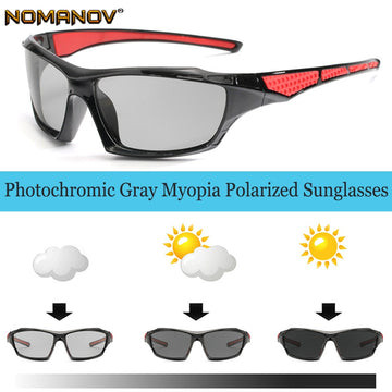 Photochromic GRAY Polarized Prescription sunglasses Custom Made Myopia Minus Prescription Lens -1 -1.5 -2 -2.5 -3 -3.5 -4 TO -6