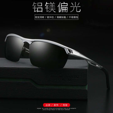 sunglasses wholesale Black gray lens tea lens Aluminum Sunglasses polarized man sun glasses lens Goggles Eyeglasses super light
