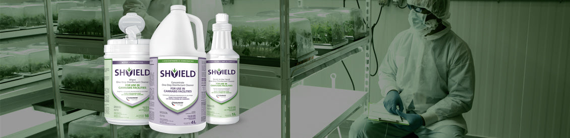 disinfection header showing collection of SHYIELD products