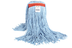 "Syn-Pro"" Synthetic  Wet Mop Narrow Band 20oz Cut End Blue"