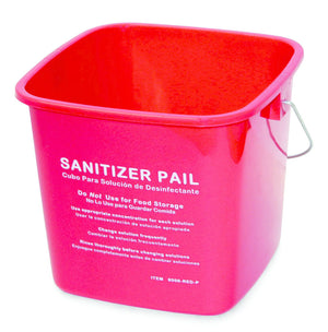3Qt Sanitizing Pail - Red