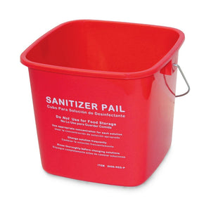 6Qt Sanitizing Pail - Red