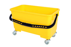 Window Cleaning Bucket with Sediment Screen and Casters