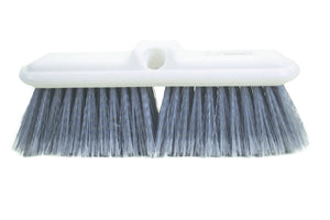 "10"" Acid Resistant Brush with Bumper Grey Fiber"