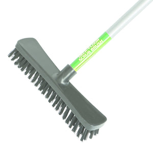 "10"" Floor and Deck Scrub Brush-Assembled 48"" Metal Handle"