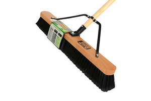 "24"" Assembled Wood Block Contractor push broom-Medium"