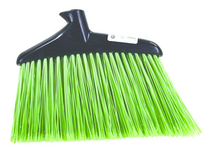 "Jumbo Commercial Angle Broom GREEN 16"" Head Only"