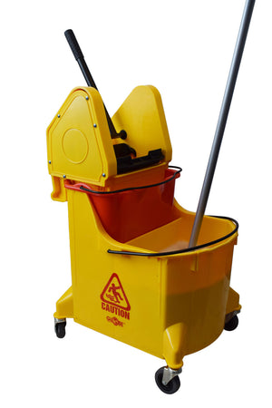 36 Qt Downpress Dual Bucket System YELLOW with removeable Dirty Water Bucket Included