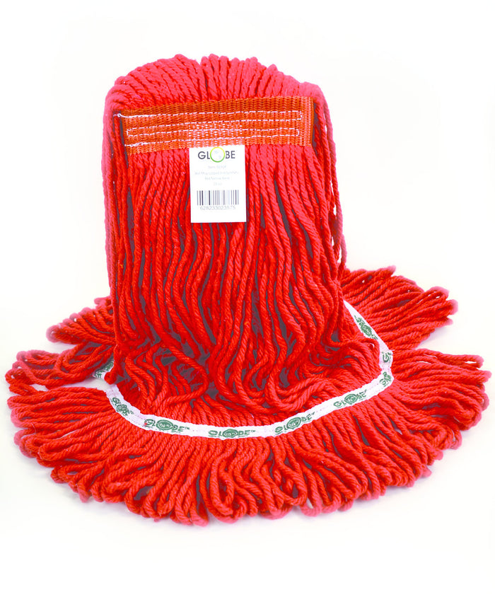 Synthetic Looped End Wet Mop Narrow Band Red 20oz