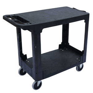 HD Flat Shelf Utility Cart Medium 550lbs Capacity - 38''x 18-3/4''x 32-1/4''