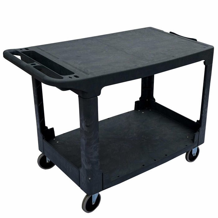 HD Flat Shelf Utility Cart Large 550lbs Capacity - 44''x 25-1/4''x 32-1/4''