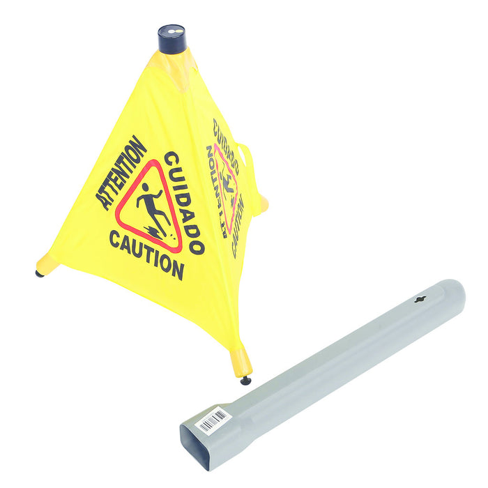 Pop-Up Safety Cone with Storage Tube