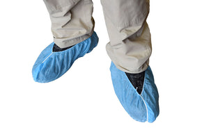 Skid Resistant Shoe Covers - Blue - 150/pack