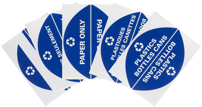 Bilingual Recycling Sticker Package for 9303 Lid