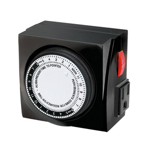 Timemaster Mechanical Timer 120V 2 Outlets