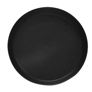 Black Plastic Saucers - Heavy Duty