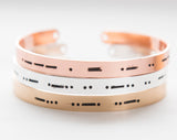 Morse code bracelet, best friend gift, BFF gift, secret message, silver gold rose gold cuff