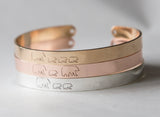 Mama Bear Engraved Bracelet, Personalized Engraved Gift, Mother's Day Family Gift
