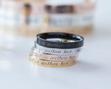 Psalm 46:5 Ring, God is Within Her She Will Not Fail Religious Gift Women Stacking Ring
