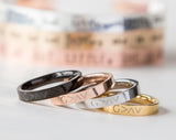 Highs And Lows Ring, Religious Gift Christian Ring, Romans 8:39 God Is Greater than the Highs and Lows
