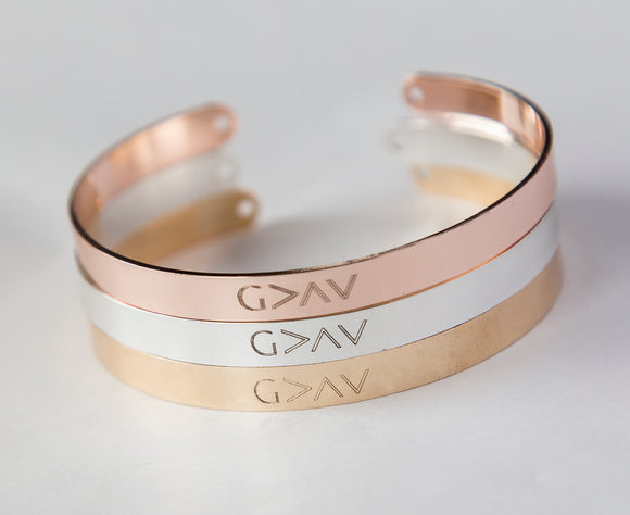 God is Greater than the Highs and the Lows Bracelet, Religious Gift Christian Cuff Highs and Lows
