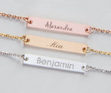 Name Bar Necklace, Baby Name Family Necklace Custom Personalized Pendant Gift