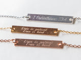 Love is Patient Love is Kind Necklace 1 Cor 13 Verse Bar Pendant, Christian Scripture Gift