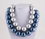 Huge faux pearl necklace gift 30mm large pearl statement necklace gift for women