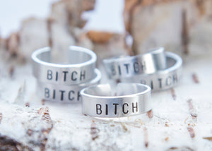 Bitch ring, Offensive ring, feminist gift, fierce jewelry, offensive ring, funny gift