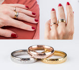 Stacking Ring Engraved Ring Personalized Gift Women Rose Gold Plated Ring Best Friend Ring