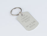 Personalized engraved keychain Custom gift boyfriend friend husband, aluminum keychain