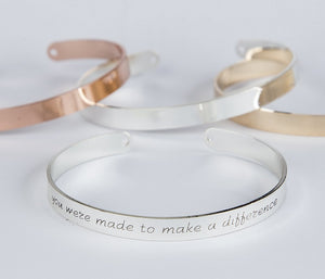 Teacher Gift Bracelet, You Were Made To Make A Difference Bracelet, Inspirational Teacher