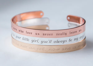 Grieving Gift The Ones Who Love Us Never Leave Us Memorial Remembrance Gift Bracelet