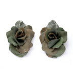 Camouflage Rose Earrings