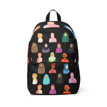 Load image into Gallery viewer, Black Hijabi Fabric Backpack