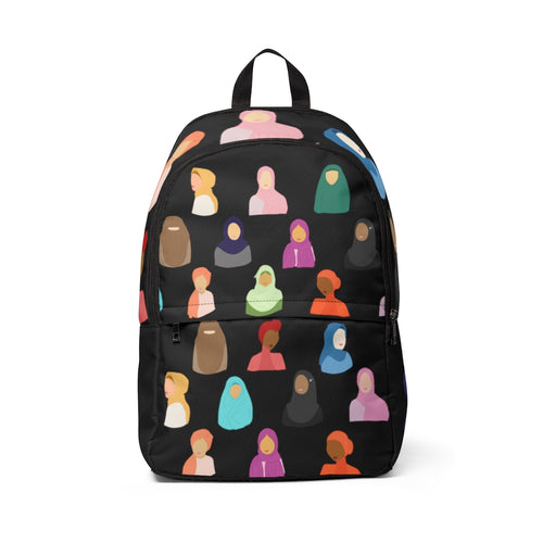 Black Hijabi Fabric Backpack
