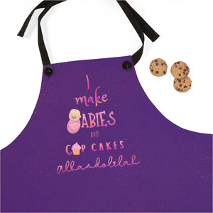 I make babies and cupcakes apron