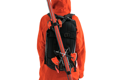 Backpack that can hold skis