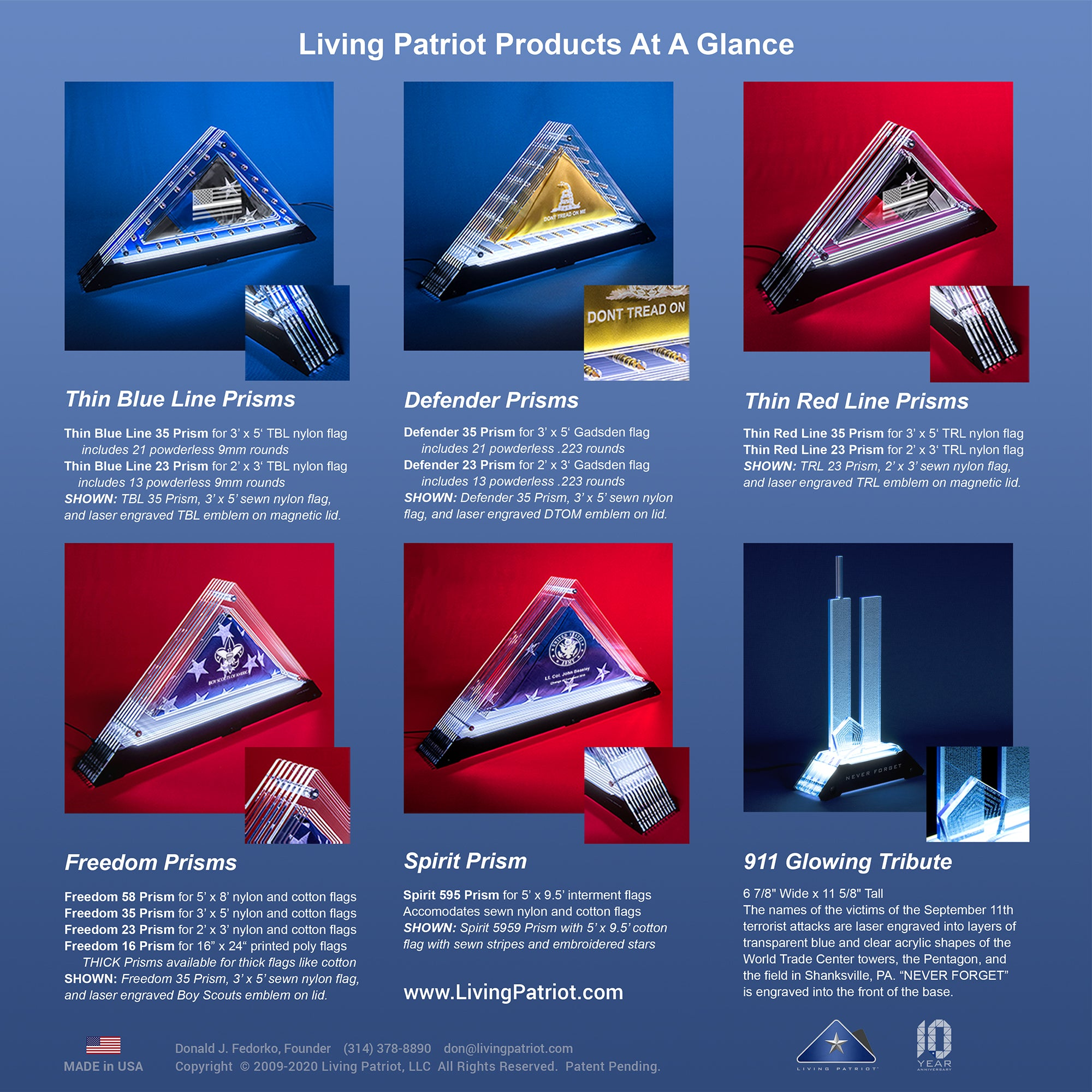 Products At A Glance | Living Patriot