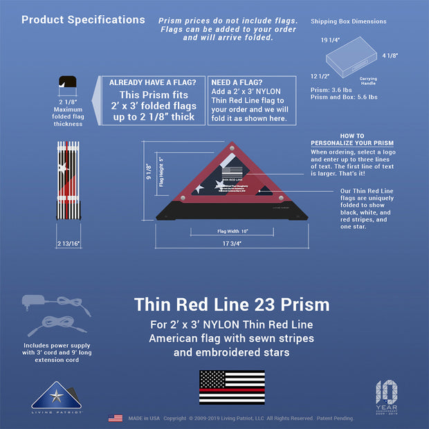 Thin Red Line 23 Prism