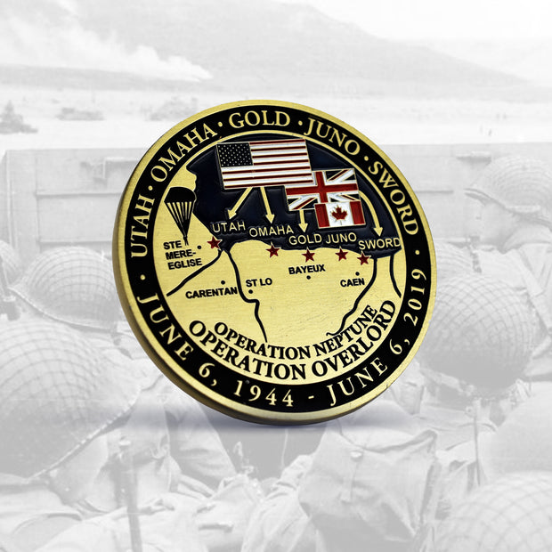 D-Day 75th Anniversary Commemorative Coin - Limited Edition