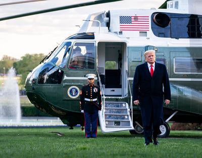 "Trump & Marine One 8""x10"" Professional Metallic Photo Print"