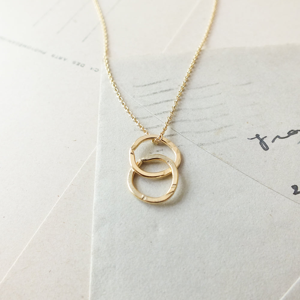 Intertwined Circles Drop Necklace