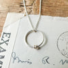 Circle Necklace with Mini Rings
