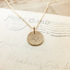 North Star Round Charm Necklace