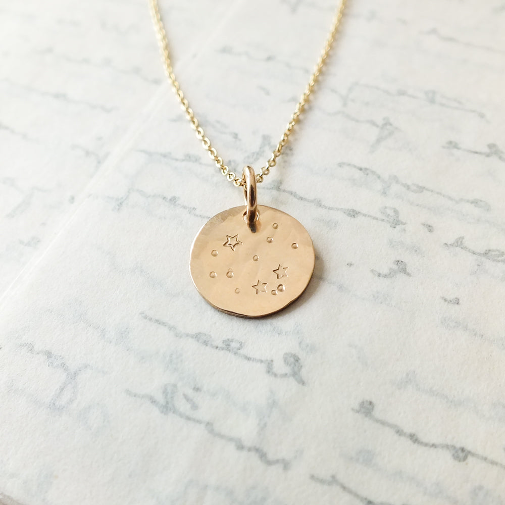 Small Round Stars Charm Necklace