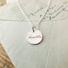 Breathe Round Charm Necklace
