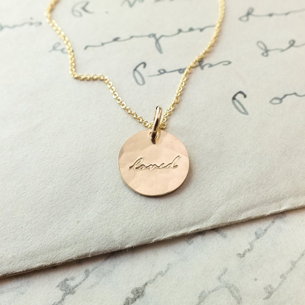 Loved Round Charm Necklace